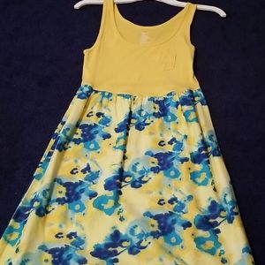 GAP Yellow and Blue Floral Dress